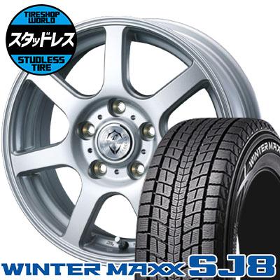 175/80R15 90Q DUNLOP ダンロップ WINTER MAXX SJ8 ウインターマックス SJ8 Treffer ZR トレファーZR スタッドレスタイヤホイール4本セット