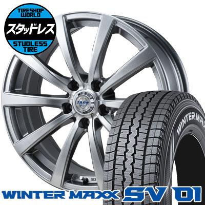 215/70R15 107/105L DUNLOP ダンロップ WINTER MAXX SV01 ウインターマックス SV01 ZACK JP-110 ザック JP110 スタッドレスタイヤホイール4本セット