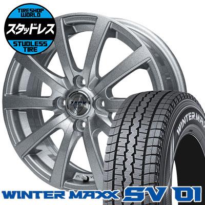 155R13 6PR DUNLOP ダンロップ WINTER MAXX SV01 ウインターマックス SV01 ZACK JP-110 ザック JP110 スタッドレスタイヤホイール4本セット