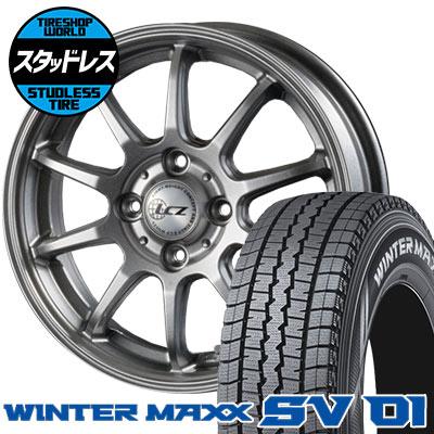 155R13 6PR DUNLOP ダンロップ WINTER MAXX SV01 ウインターマックス SV01 LCZ010 LCZ010 スタッドレスタイヤホイール4本セット