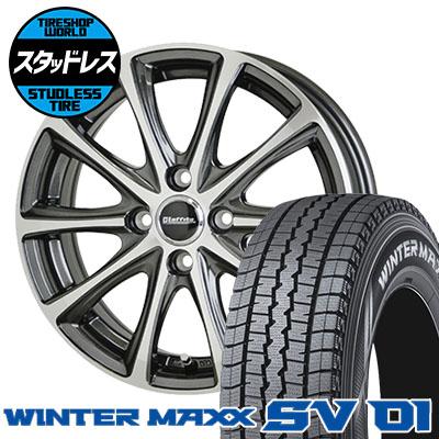 145R12 6PR DUNLOP ダンロップ WINTER MAXX SV01 ウインターマックス SV01 Laffite LE-04 ラフィット LE-04 スタッドレスタイヤホイール4本セット