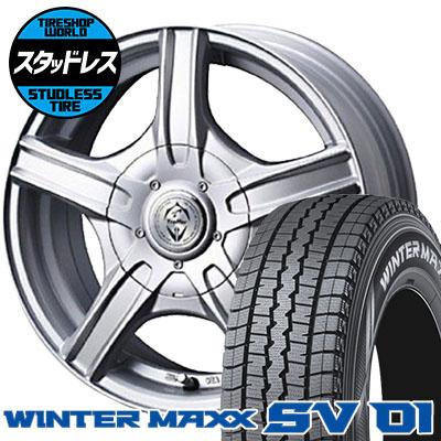 155R12 6PR DUNLOP ダンロップ WINTER MAXX SV01 ウインターマックス SV01 Treffer MH トレファーMH スタッドレスタイヤホイール4本セット