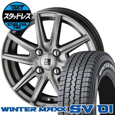 175R14 6PR DUNLOP ダンロップ WINTER MAXX SV01 ウインターマックス SV01 SEIN SS ザイン エスエス スタッドレスタイヤホイール4本セット