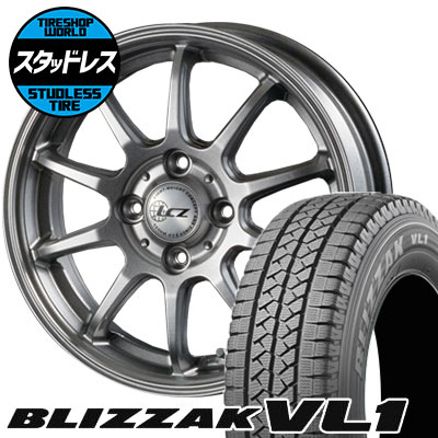 155R13 6PR BRIDGESTONE ブリヂストン BLIZZAK VL-1 ブリザック VL1 LCZ010 LCZ010 スタッドレスタイヤホイール4本セット