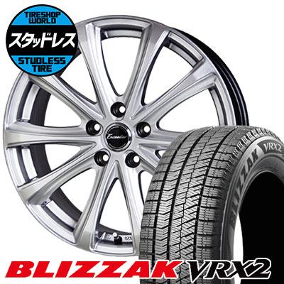215/45R18 89Q BRIDGESTONE ブリヂストン BLIZZAK VRX2 ブリザック VRX2 Exceeder E04 エクシーダー E04 スタッドレスタイヤホイール4本セット