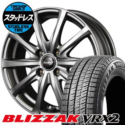 145/80R12 74Q BRIDGESTONE ブリヂストン BLIZZAK VRX2 ブリザック VRX2 EuroSpeed V25 ユーロスピード V25 スタッドレスタイヤホイール4本セット