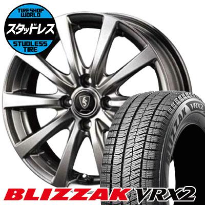 175/65R14 82Q BRIDGESTONE ブリヂストン BLIZZAK VRX2 ブリザック VRX2 Euro Speed G10 ユーロスピード G10 スタッドレスタイヤホイール4本セット