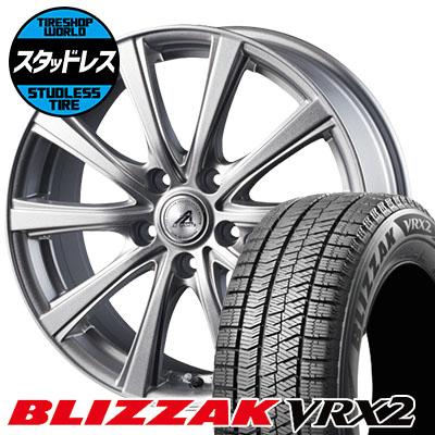 195/65R16 92Q BRIDGESTONE ブリヂストン BLIZZAK VRX2 ブリザック VRX2 AZ sports YL-10 AZスポーツ YL-10 スタッドレスタイヤホイール4本セット