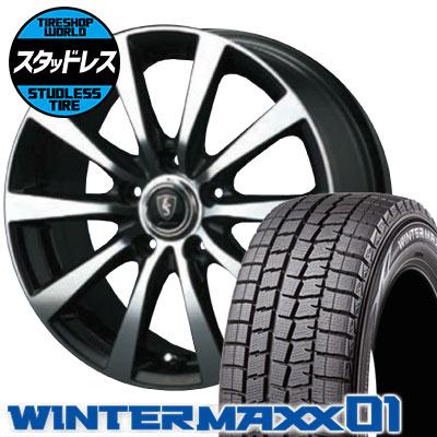 215/60R16 95Q DUNLOP ダンロップ WINTER MAXX 01 WM01 ウインターマックス 01 EuroSpeed BL10 ユーロスピード BL10 スタッドレスタイヤホイール4本セット