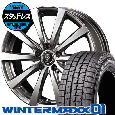225/60R17 99Q DUNLOP ダンロップ WINTER MAXX 01 WM01 ウインターマックス 01 Euro Speed G10 ユーロスピード G10 スタッドレスタイヤホイール4本セット