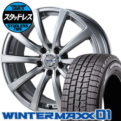 215/55R17 94Q DUNLOP ダンロップ WINTER MAXX 01 WM01 ウインターマックス 01 ZACK JP-110 ザック JP110 スタッドレスタイヤホイール4本セット