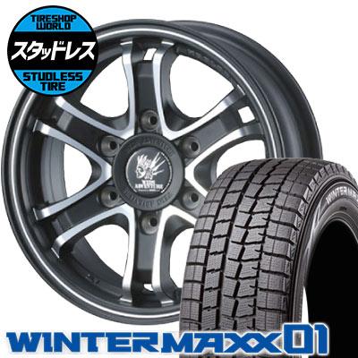 215/65R16 98Q DUNLOP ダンロップ WINTER MAXX 01 WM01 ウインターマックス 01 KEELER FORCE キーラーフォース スタッドレスタイヤホイール4本セット