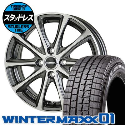 165/65R13 77Q DUNLOP ダンロップ WINTER MAXX 01 WM01 ウインターマックス 01 Laffite LE-04 ラフィット LE-04 スタッドレスタイヤホイール4本セット