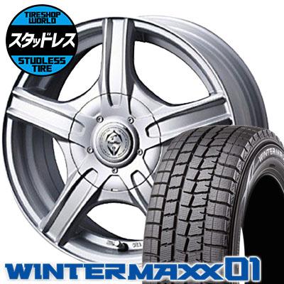 165/65R13 77Q DUNLOP ダンロップ WINTER MAXX 01 WM01 ウインターマックス 01 Treffer MH トレファーMH スタッドレスタイヤホイール4本セット