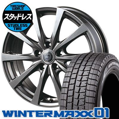 205/65R15 94Q DUNLOP ダンロップ WINTER MAXX 01 WM01 ウインターマックス 01 CLAIRE RG10 クレール RG10 スタッドレスタイヤホイール4本セット