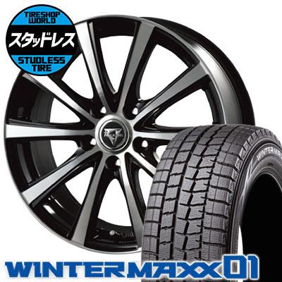215/55R17 94Q DUNLOP ダンロップ WINTER MAXX 01 WM01 ウインターマックス 01 Razee XV レイジー XV スタッドレスタイヤホイール4本セット