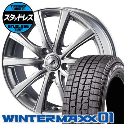 205/65R15 94Q DUNLOP ダンロップ WINTER MAXX 01 WM01 ウインターマックス 01 AZ sports YL-10 AZスポーツ YL-10 スタッドレスタイヤホイール4本セット