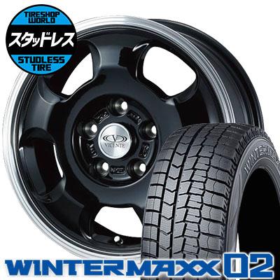 185/65R15 88Q DUNLOP ダンロップ WINTER MAXX 02 WM02 ウインターマックス 02 VICENTE-05 NV ヴィセンテ05 NV スタッドレスタイヤホイール4本セット