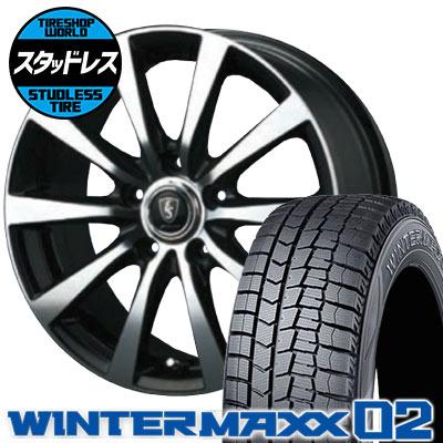 225/60R16 98Q DUNLOP ダンロップ WINTER MAXX 02 WM02 ウインターマックス 02 EuroSpeed BL10 ユーロスピード BL10 スタッドレスタイヤホイール4本セット