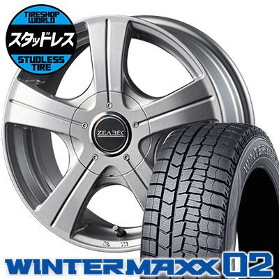 165/70R14 81Q DUNLOP ダンロップ WINTER MAXX 02 WM02 ウインターマックス 02 ZEABEC BT-5 ジーベック BT-5 スタッドレスタイヤホイール4本セット