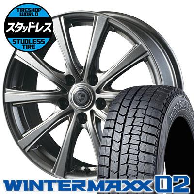 235/50R18 97Q DUNLOP ダンロップ WINTER MAXX 02 WM02 ウインターマックス 02 CLAIRE DG10 クレール DG10 スタッドレスタイヤホイール4本セット
