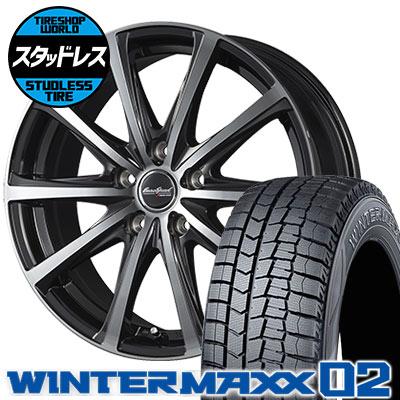 195/60R16 89Q DUNLOP ダンロップ WINTER MAXX 02 WM02 ウインターマックス 02 EuroSpeed V25 ユーロスピード V25 スタッドレスタイヤホイール4本セット