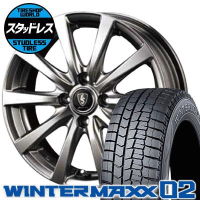 165/65R15 81Q DUNLOP ダンロップ WINTER MAXX 02 WM02 ウインターマックス 02 Euro Speed G10 ユーロスピード G10 スタッドレスタイヤホイール4本セット