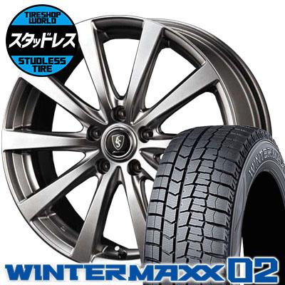 215/50R17 91Q DUNLOP ダンロップ WINTER MAXX 02 WM02 ウインターマックス 02 Euro Speed G10 ユーロスピード G10 スタッドレスタイヤホイール4本セット