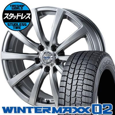 215/50R17 91Q DUNLOP ダンロップ WINTER MAXX 02 WM02 ウインターマックス 02 ZACK JP-110 ザック JP110 スタッドレスタイヤホイール4本セット