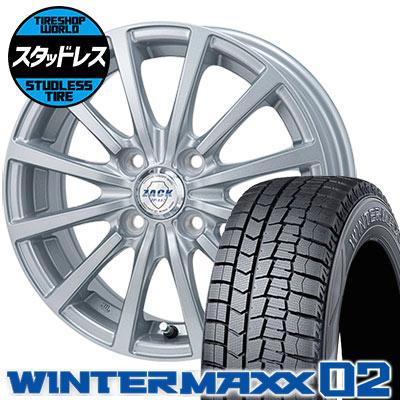 185/55R16 83Q DUNLOP ダンロップ WINTER MAXX 02 WM02 ウインターマックス 02 ZACK JP-112 ザック JP112 スタッドレスタイヤホイール4本セット