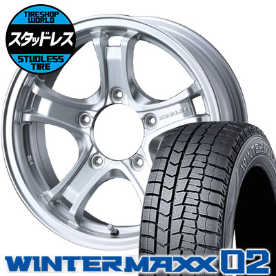 195/65R16 92Q DUNLOP ダンロップ WINTER MAXX 02 WM02 ウインターマックス 02 KEELER FORCE キーラーフォース スタッドレスタイヤホイール4本セット