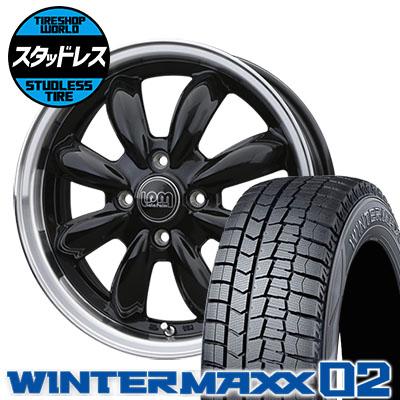 165/65R15 81Q DUNLOP ダンロップ WINTER MAXX 02 WM02 ウインターマックス 02 LaLa Palm CUP ララパーム カップ スタッドレスタイヤホイール4本セット