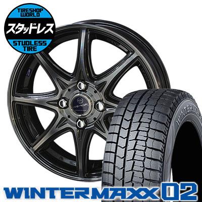 165/65R14 79Q DUNLOP ダンロップ WINTER MAXX 02 WM02 ウインターマックス 02 SMACK LAVINE スマック ラヴィーネ スタッドレスタイヤホイール4本セット