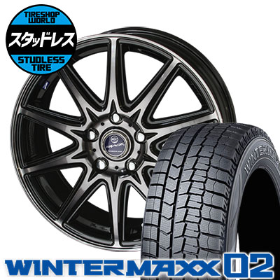 195/65R16 92Q DUNLOP ダンロップ WINTER MAXX 02 WM02 ウインターマックス 02 SMACK LAVINE スマック ラヴィーネ スタッドレスタイヤホイール4本セット