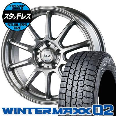 【メーカー直売】 225/60R16 98Q DUNLOP ダンロップ WINTER MAXX 02 WM02 ウインターマックス 02 LCZ010 LCZ010 スタッドレスタイヤホイール4本セット, 有限会社 ピエロ f36318c4