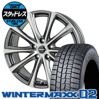 225/45R18 91Q DUNLOP ダンロップ WINTER MAXX 02 WM02 ウインターマックス 02 Laffite LE-04 ラフィット LE-04 スタッドレスタイヤホイール4本セット