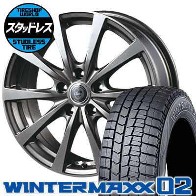 215/50R17 91Q DUNLOP ダンロップ WINTER MAXX 02 WM02 ウインターマックス 02 CLAIRE RG10 クレール RG10 スタッドレスタイヤホイール4本セット