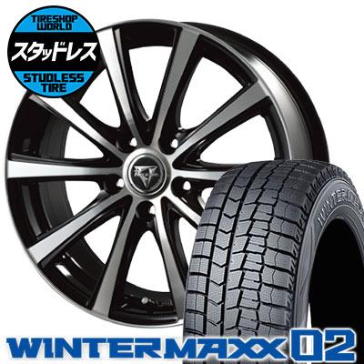 195/65R16 92Q DUNLOP ダンロップ WINTER MAXX 02 WM02 ウインターマックス 02 Razee XV レイジー XV スタッドレスタイヤホイール4本セット