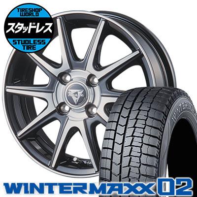 165/60R14 75Q DUNLOP ダンロップ WINTER MAXX 02 WM02 ウインターマックス 02 Razee XX レイジー XX スタッドレスタイヤホイール4本セット