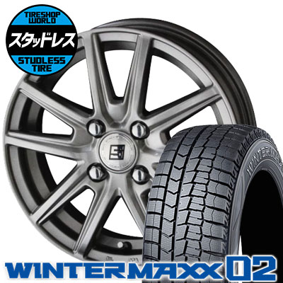 155/65R14 75Q DUNLOP ダンロップ WINTER MAXX 02 WM02 ウインターマックス 02 SEIN SS ザイン エスエス スタッドレスタイヤホイール4本セット
