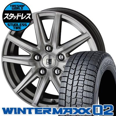 195/65R16 92Q DUNLOP ダンロップ WINTER MAXX 02 WM02 ウインターマックス 02 SEIN SS ザイン エスエス スタッドレスタイヤホイール4本セット