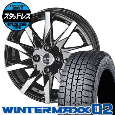 165/60R14 75Q DUNLOP ダンロップ WINTER MAXX 02 WM02 ウインターマックス 02 SMACK SFIDA スマック スフィーダ スタッドレスタイヤホイール4本セット