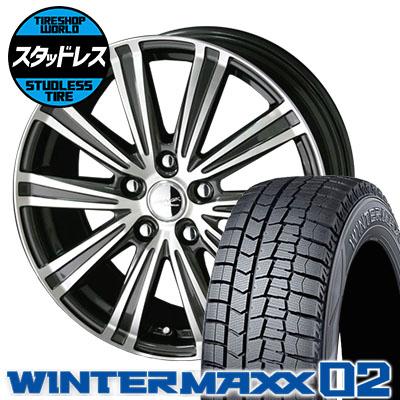 195/65R16 92Q DUNLOP ダンロップ WINTER MAXX 02 WM02 ウインターマックス 02 SMACK SPARROW スマック スパロー スタッドレスタイヤホイール4本セット