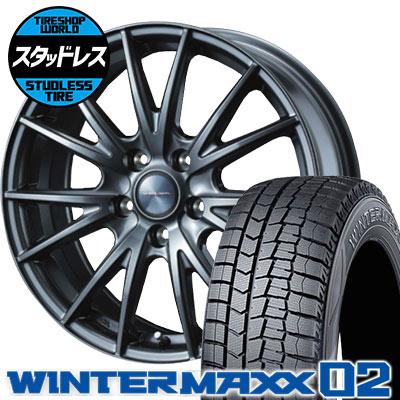 215/50R17 91Q DUNLOP ダンロップ WINTER MAXX 02 WM02 ウインターマックス 02 VELVA SPORT ヴェルヴァ スポルト スタッドレスタイヤホイール4本セット