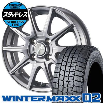 185/60R15 84Q DUNLOP ダンロップ WINTER MAXX 02 WM02 ウインターマックス 02 V-EMOTION SR10 Vエモーション SR10 スタッドレスタイヤホイール4本セット