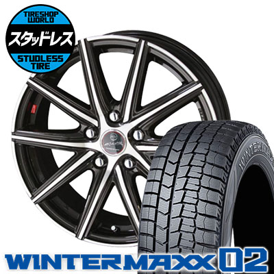 215/50R17 91Q DUNLOP ダンロップ WINTER MAXX 02 WM02 ウインターマックス 02 SMACK PRIME SERIES VANISH スマック プライムシリーズ ヴァニッシュ スタッドレスタイヤホイール4本セット