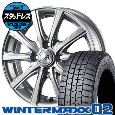 155/65R13 73Q DUNLOP ダンロップ WINTER MAXX 02 WM02 ウインターマックス 02 AZ sports YL-10 AZスポーツ YL-10 スタッドレスタイヤホイール4本セット
