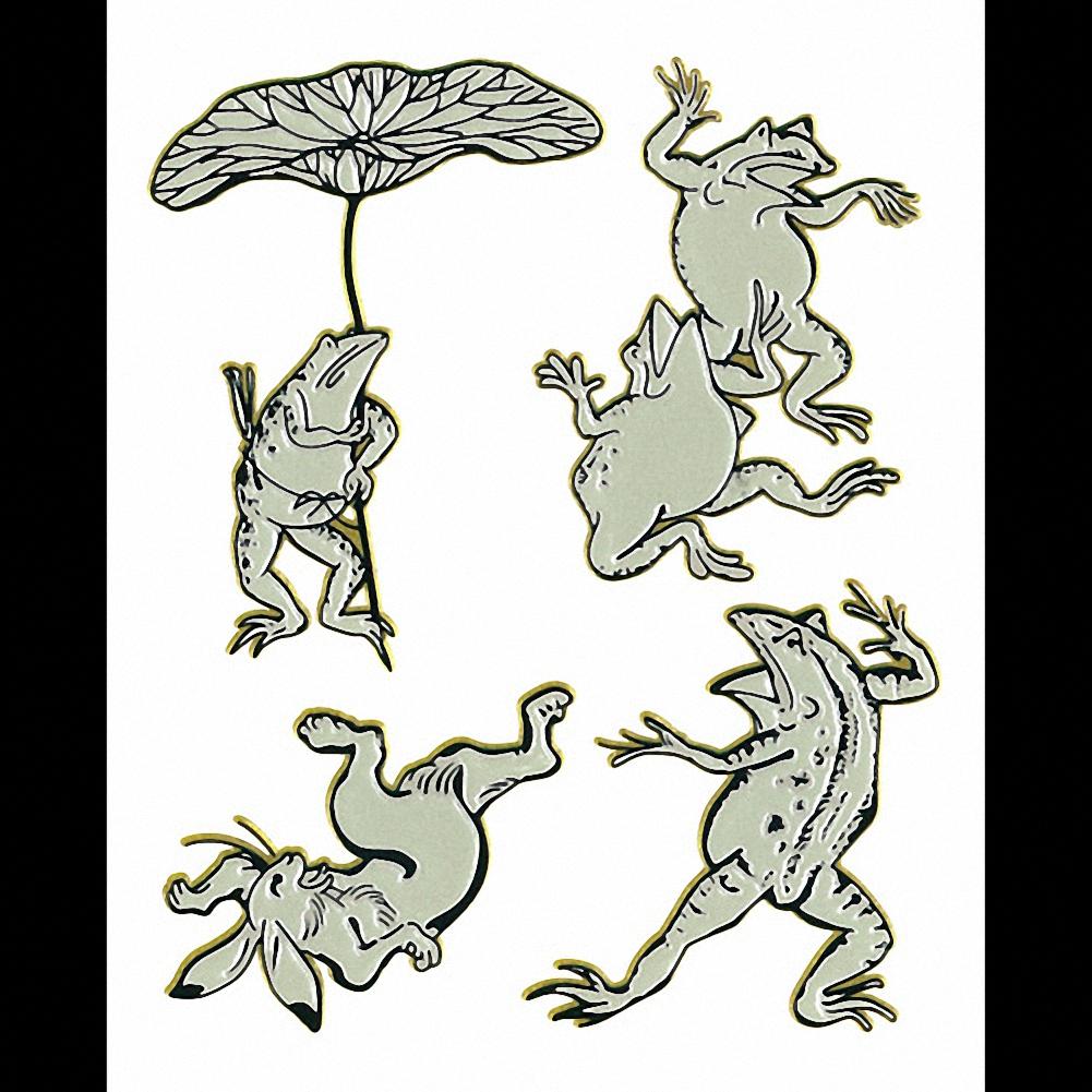 京蒔絵シール お金を節約 日本の意匠シリーズ 鳥獣戯画 スマートフォンやお持ちのアイテムをお洒落れに飾る蒔絵シール メール便でお届けします 宅送