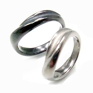 【 金属アレルギー 対応】純チタンペアリング U32U32Gpair( アレルギーフリー リング 指輪 ペアリング 結婚指輪 マリッジリング グレー IPグレー gray チタン 純チタン ユニセックス シンプル 男女兼用 メンズ レディース 男性 女性 )