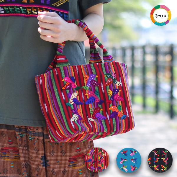 バード刺繍トートバッグ